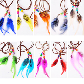 3 Pcs Headband Colorful Feather Hair Extensions - 10 Colors Available