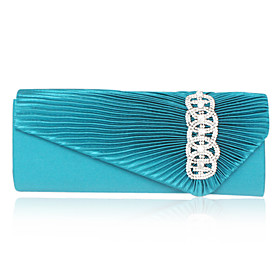 Satin With Crystal/Rhinestone Evening Handbag  (More Colors)