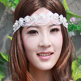 White Feather Net Headband