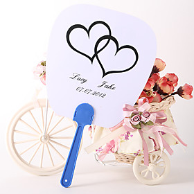 Personalized Fan Wedding Favor – Seaside Love