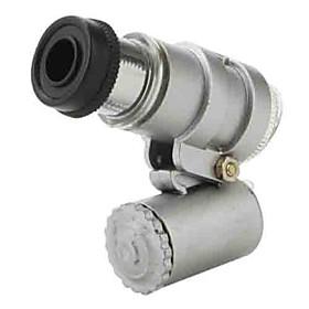 Mini 45X 2-LED Pocket Magnifier Loupe