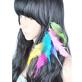 1 Pcs Clip In Colorful Feather Hair Extensions