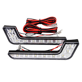 Car Daytime Running Light (2 PCS, 8 LED, White Light, Waterproof)