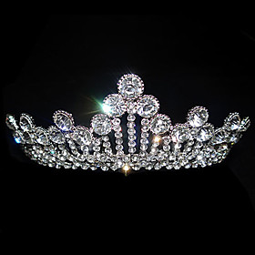 Regal Rhinestone Bridal Tiara