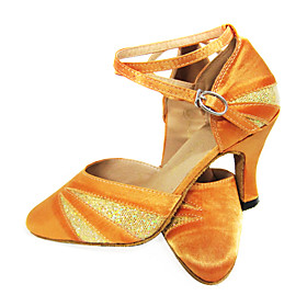 Customized Satin And Sparkling Glitter Latin/Ballroom Dance Shoes (More Colors) (Runs Small)