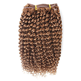 100% Indian Remy Hair 7 Inch Curly Hair Weave Hair Extensions 26 Colors Available