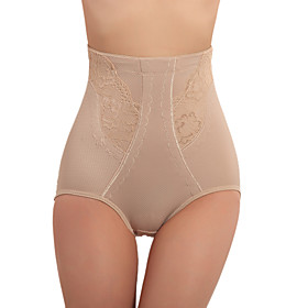High Waist Patterned Cotton Shaping Panty