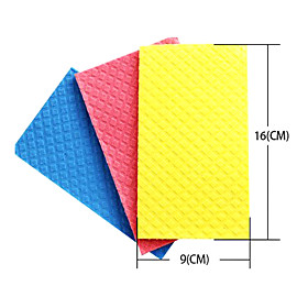 Kitchen Cleaning 16x9cm Wood Fiber Wipe Cloth (3-Pack, Random Color)