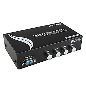 4 Port VGA Audio Converter Switch Box