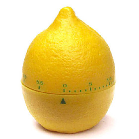 Yellow Lemon Shaped 60-Minute Kitchen Cooking Mechanical Timer