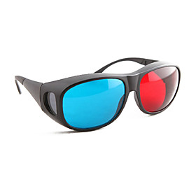 Large Frame Style Red and Blue 3D Glasses
