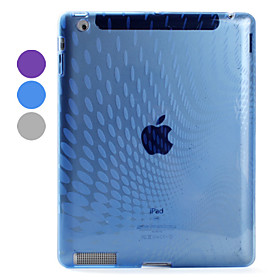 Raindrop Pattern TPU Back Case Compatible with Original Smart Cover for Apple The New iPad
