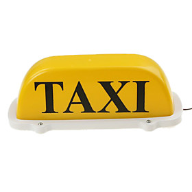 Yellow Roof Top Taxi Light and Sign 12V with Magnetic Base