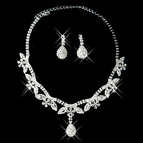 Gorgeous Rhinestone Two Piece Spring Breeze Ladies' Jewelry Set (45 cm)