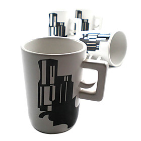 Simple Artistic Ceramics Mug (Black and White)
