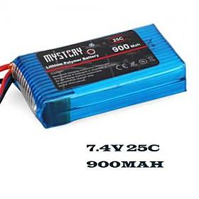 MYSTERY 900mAh 25C 7.4V 2S1P LiPoly Battery(MY09252)