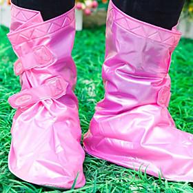 Adjustable Waterproof Shoe Covers (Pink)