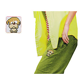 Water-soluble Fabric Cross Stitch Decoration (Doggy)