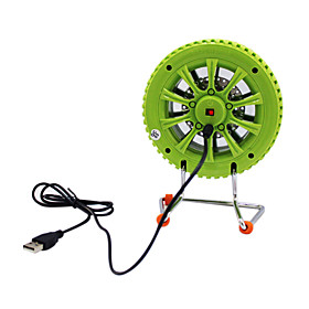 USB Charging Tire Fan (Assorted Colors)