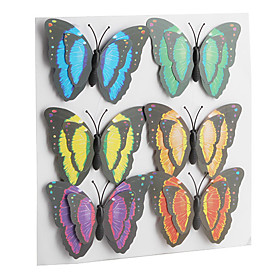Novelty Colorful Butterfly Shaped Fridge Magnets Stickers (6-Pack)