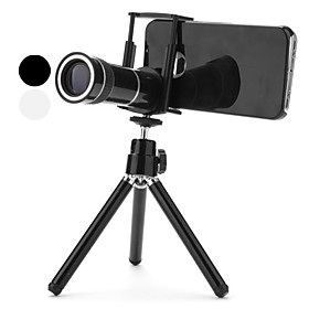 10X Zoom Telephoto Lens with Case and Tripod for iPhone 4 and 4S (Assorted Colors)