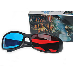 Red and Blue Anaglyph 3D Glasses