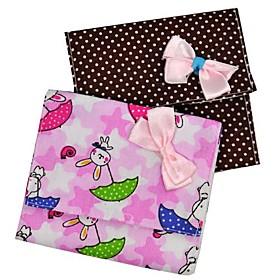 Bowtie Sanitary Napkin Bag (3-Piece, Assorted Colors)