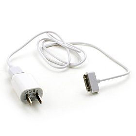 USB AC Adapter with USB cable for iPhones and Kindles (US Plug)