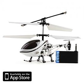 3 Channel I-Helicopter 777-170 with Gyro Controlled by iPhone/iPad/iPod Touch White (777-170W)
