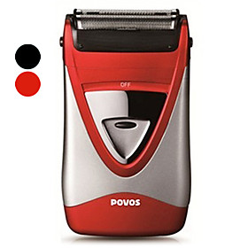 POVOS Battery Operated Dual Blade Cordless Wet and Dry Foil Shaver (Assorted Colors)