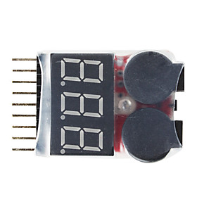 1-8S Lipo Battery Voltage Tester Low Voltage Buzzer Alarm