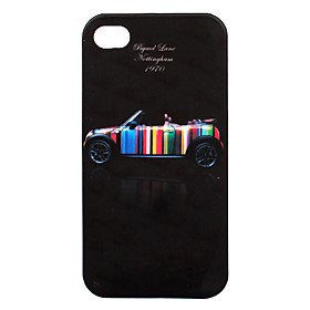 Protective Dull Polished Super Slim Car Patterned iPhone Case Cover (Pattern 6)