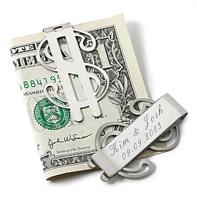 Personalized Money Clip – Dollar Sign