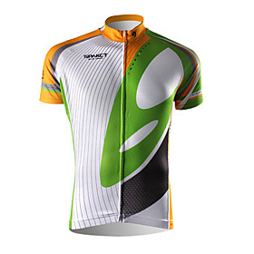 SPAKCT - 100% Polyester Mens Cycling Short Sleeve Jerseys (with Back Bags)