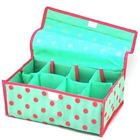 8-Compartment Round Dots Soft Cover Storage Box