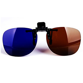 Clip on Round Anaglyph 3D Glasses (Assorted Colors)