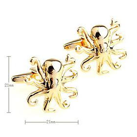 Octopus Pattern Unisex Cufflinks