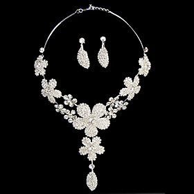 Elegant Stylish Ladies' Jewelry Set Including Necklace and Earrings
