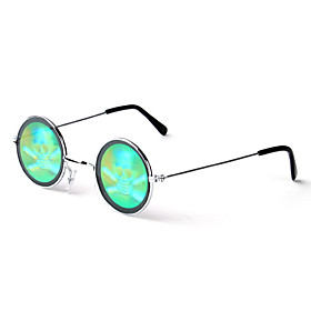 3D Scary Skull Pattern Color Changing Glasses