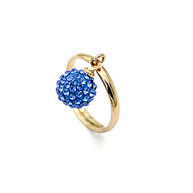 Ball Pattern Diamond Studded Ring