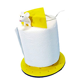 Mouse and Cheese Pattern Toilet Paper Frame