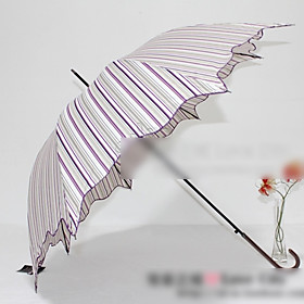 Ruffle Stripe Auto Umbrella