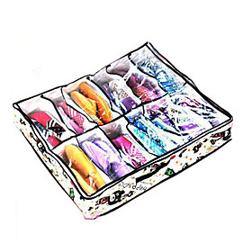 Bear Pattern 12 Grids Storage Box For Shoes