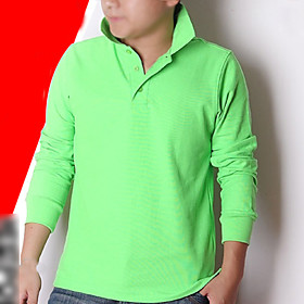 Lapel Collar Long Sleeve T-Shirt