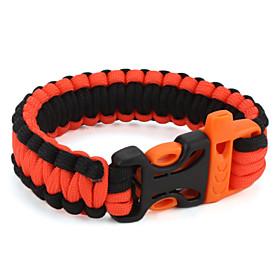 Para-Cord Survival Bracelet with Plastic Connection Buckle