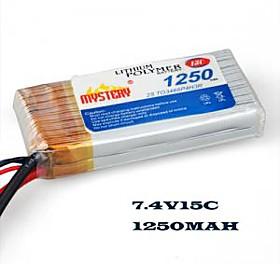 MYSTERY 1250mAh 15C 7.4V 2S1P LiPoly Battery(MY12152)