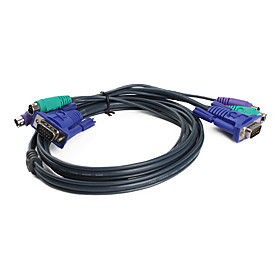 3-in-1 Universal PS2 KVM Cable (1.5 m)
