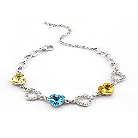 Heart Shaped Crystal Bracelet