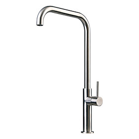 Stainless Steel Contemporary Centerset Kitchen faucet (Brushed Finish)
