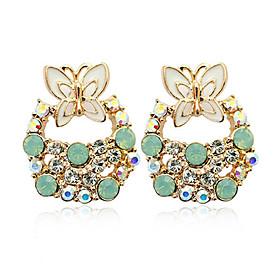 Country Style Bow Diamond Studded Ear Studs